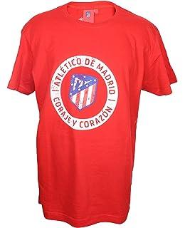 Atletico de Madrid Camiseta Hombre Azul Marino Nuevo Escudo: Amazon.es: Ropa y accesorios