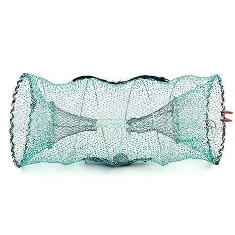 Redes de pesca - portátil plegable jaula de langosta redonda red ...
