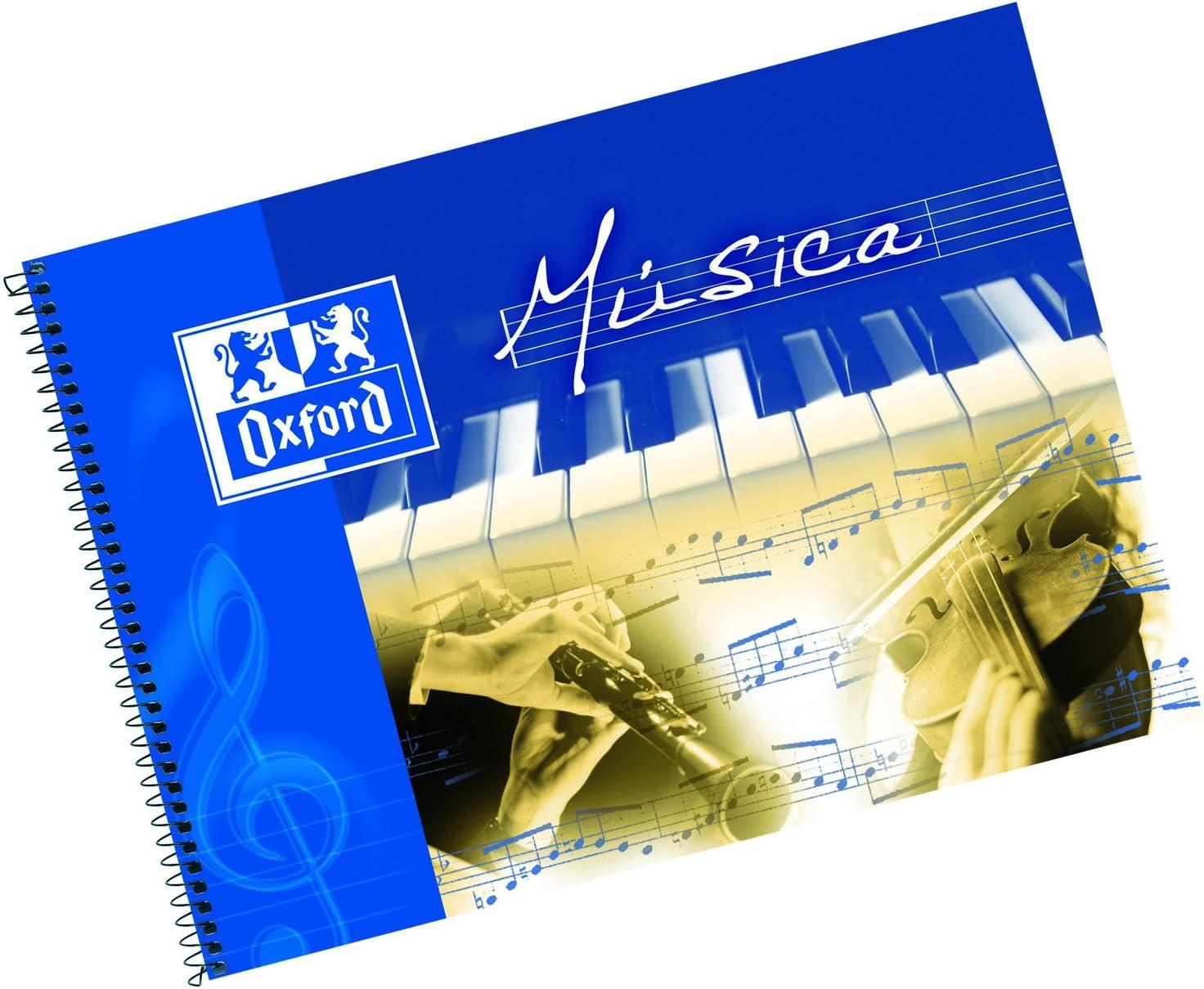 Oxford 100302790 - Pack de 10 cuadernos de música espiral, 4º ...