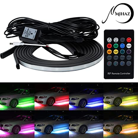 Amazon mihaz led lights for car 4 pcs high intensity led glow mihaz led lights for car 4 pcs high intensity led glow light strip kit running mozeypictures Gallery