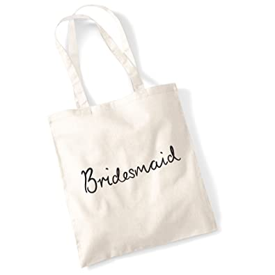 Tote Bags For Women Bridesmaid Printed Cotton Shopper Bag Gifts  Amazon.co. uk  Shoes   Bags 241425179e