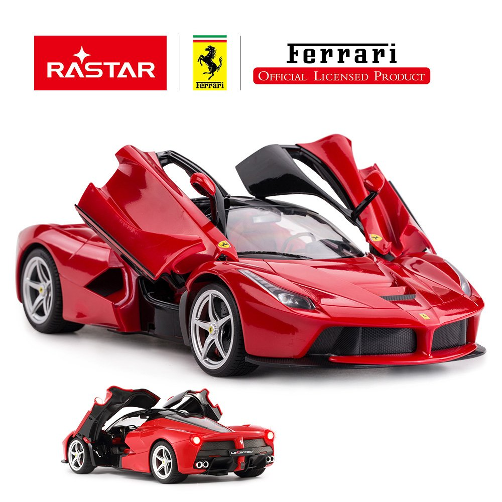 RASTAR RC Car   1/14 Scale Ferrari LaFerrari Radio Remote Control R/C Toy Car Model Vehicle for Boys Kids, Red, 13.3 x 5.9 x 3.3 inch by RASTAR (Image #2)