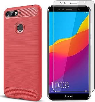 MYLBOO Funda Huawei Y6 2018/Honor 7A con protector de pantalla,[2 ...