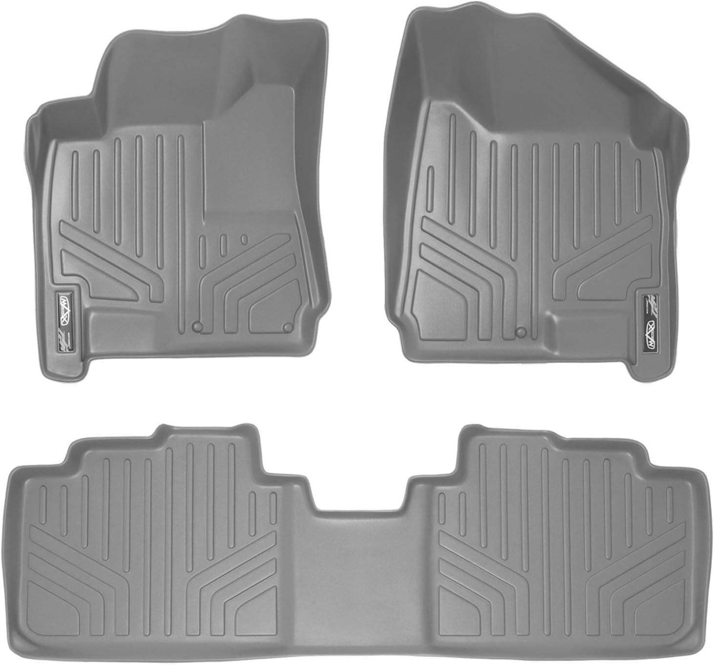 SMARTLINER Custom Fit Floor Mats 2 Row Liner Set Grey for 2010-2016 Cadillac SRX All Models