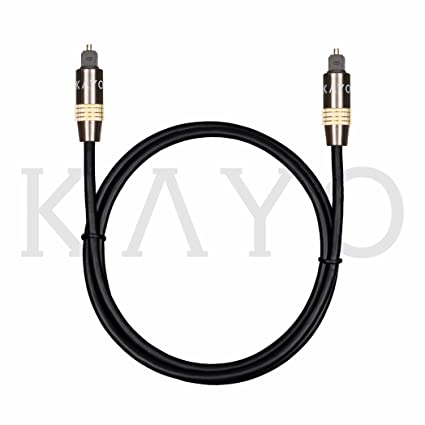 Optical Digital Audio Toslink Cable Home Theater KAYO Fiber Optic Toslink Male to Male Gold Plated