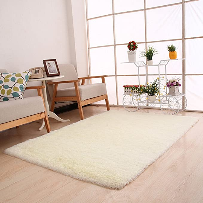 Green Ultra Soft Indoor Area Rugs Thick Fluffy Living Room Runner Rug Faux Fur Carpets Anti-Skid Shaggy Mat Pad for Kids Children Adults Bedroom Home Decor Nursery Rugs 19.68x31.49 Inch