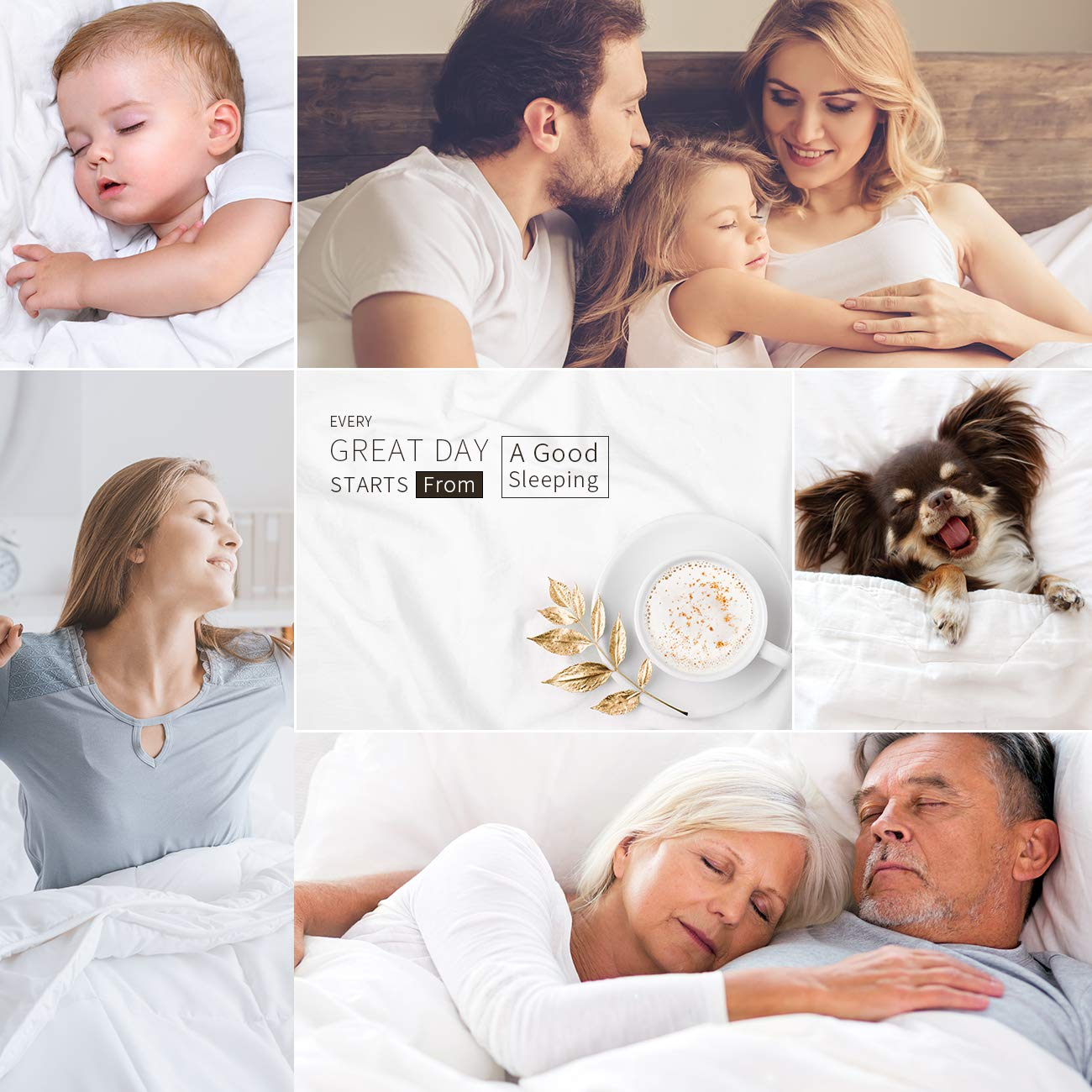 EcoMozz King Comforter with Corner Tabs - All Season Down Alternative Comforter - Soft Warm Quilted Duvet Insert - Hypoallergenic Fluffy Hotel Collection - White by EcoMozz (Image #7)