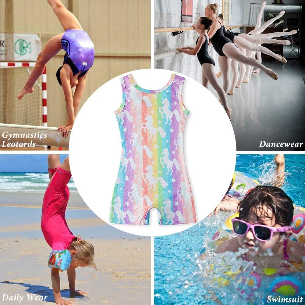 Loveternal Girl Gymnastics Leotards One Piece Sparkle Biketards Dancing Athletic Ballet Unitards 3-7T