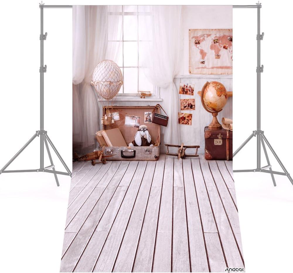 Andoer Navidad Telón de Fondo de Fotografía Impresión Digital Árbol de Navidad Regalo Patrón de la Impresión para Foto Estudio (1.5 * 2m) (5)