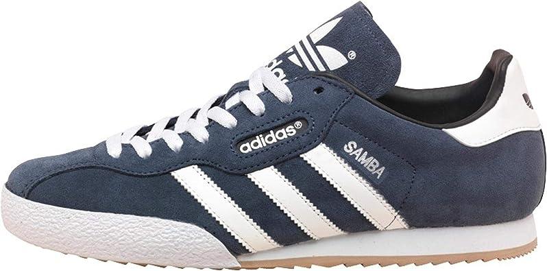 adidas Originals Samba Super Baskets en Daim Bleu rétro 6 14