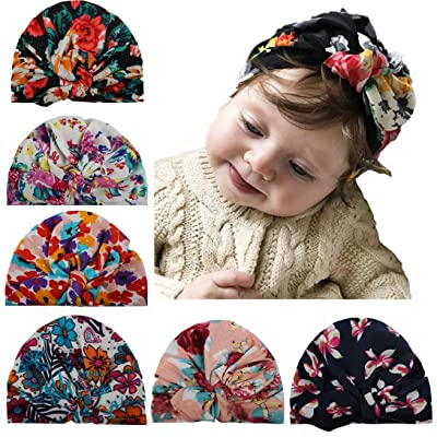 9c2483507 Upsmile Newborn Baby Turban Headband Baby Infant Head Wrap Baby ...