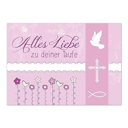 Glückwunschkarte Taufe Mit Umschlagalles Liebe Rosataufkartenkarte Für Glückwünschezur Feier