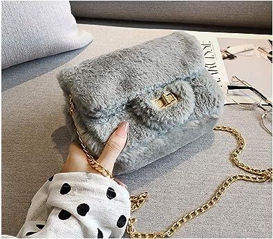 Womens Faux Fur Shoulder Bag Ladies Messenger Crossbody Handbag New