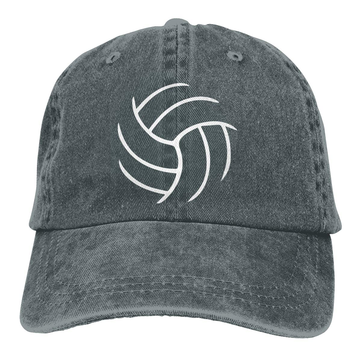 TBVS 77 Men Women Washed Yarn-Dyed Denim Baseball Cap Volleyball Headwear
