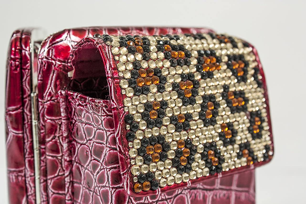 Amazon.com: Arcadia Framed Cadena Billetera: Bling Diseño de ...