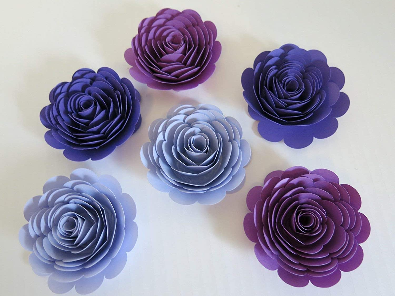 Nursery Flowers Shabby Chic Customizable Large Paper Flower Set Bridal Shower Ombre Roses Wedding Decor