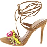 5fffd8a7a1e Amazon.com | Shoe Republic Marabou Fur Slide Slip Clear Lucite ...