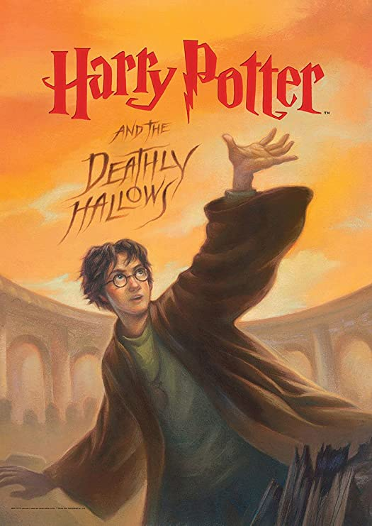 Amazon.com: MightyPrint Harry Potter (Book Cover - Deathly Hallows ...