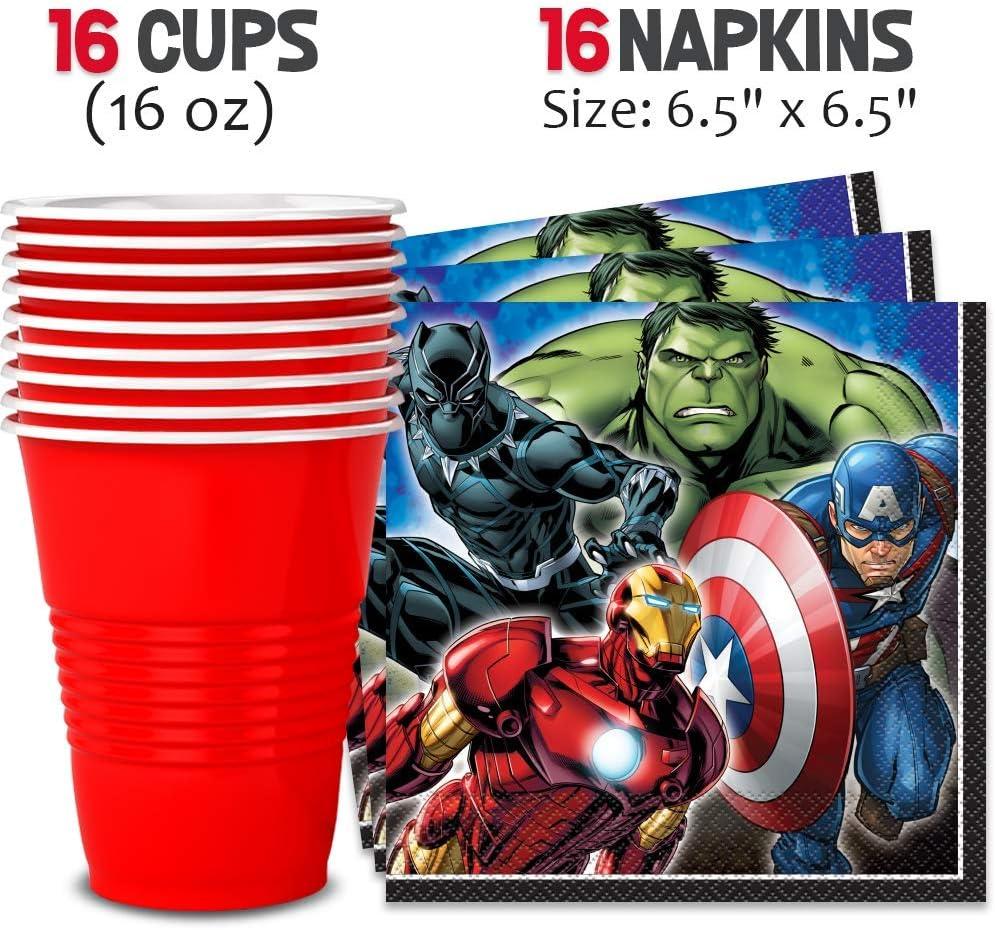Amazon.com: Avengers suministros para fiestas para 16 ...
