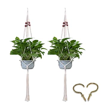 umiwe 2 pcs suspension de plante avec macram decoration porte plantes intrieur ou extrieur