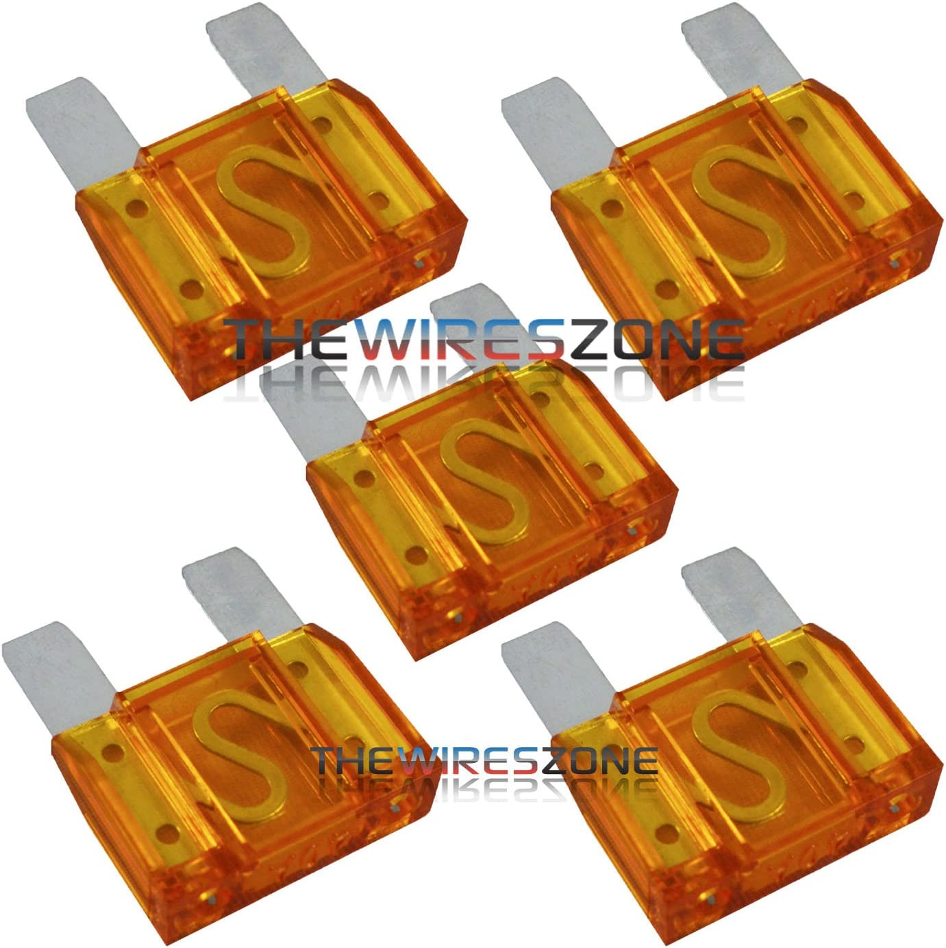 6 Pack of 100 Amp Large Blade Style Audio Maxi Fuse for Car//RV//Boat