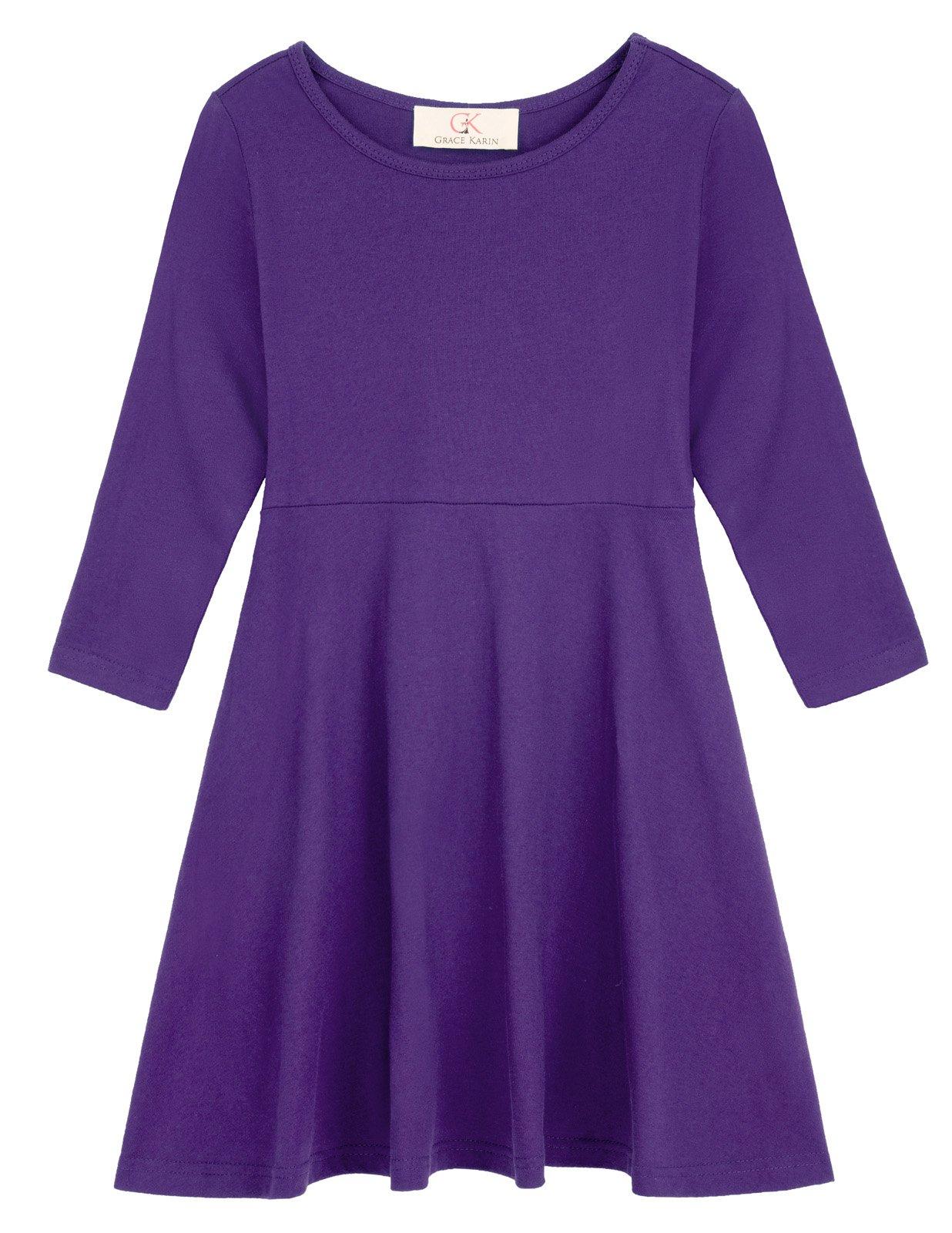Girls Long Sleeve Vintage Retro Cotton Dresses 10-11yrs CL10628-3