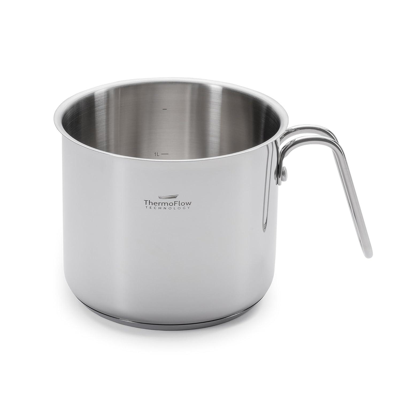 Romarino Pot à lait à induction en acier inoxydable avec bec verseur pour plaques à induction, électrique, vitrocéramique, machine à gaz, etc. Qualité supérieure électrique vitrocéramique Vitapur