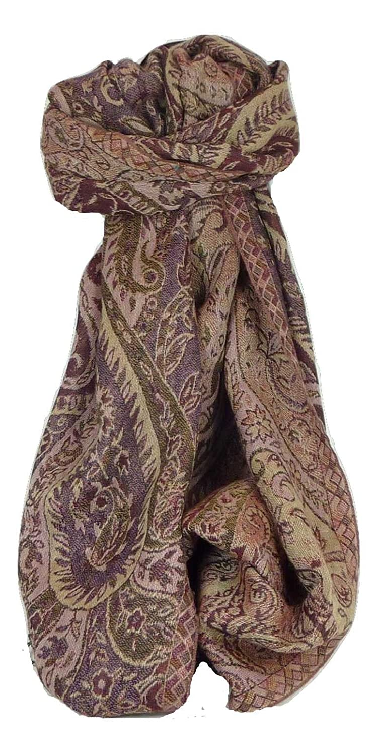Muffler Scarf ID 4423 in Fine Pashmina Wool from the Heritage Range by Pashmina & Silk