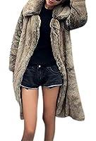 GESELLIE Women's Winter Warm Lapel Long Faux Fur Overcoat Jacket Coat Outerwear