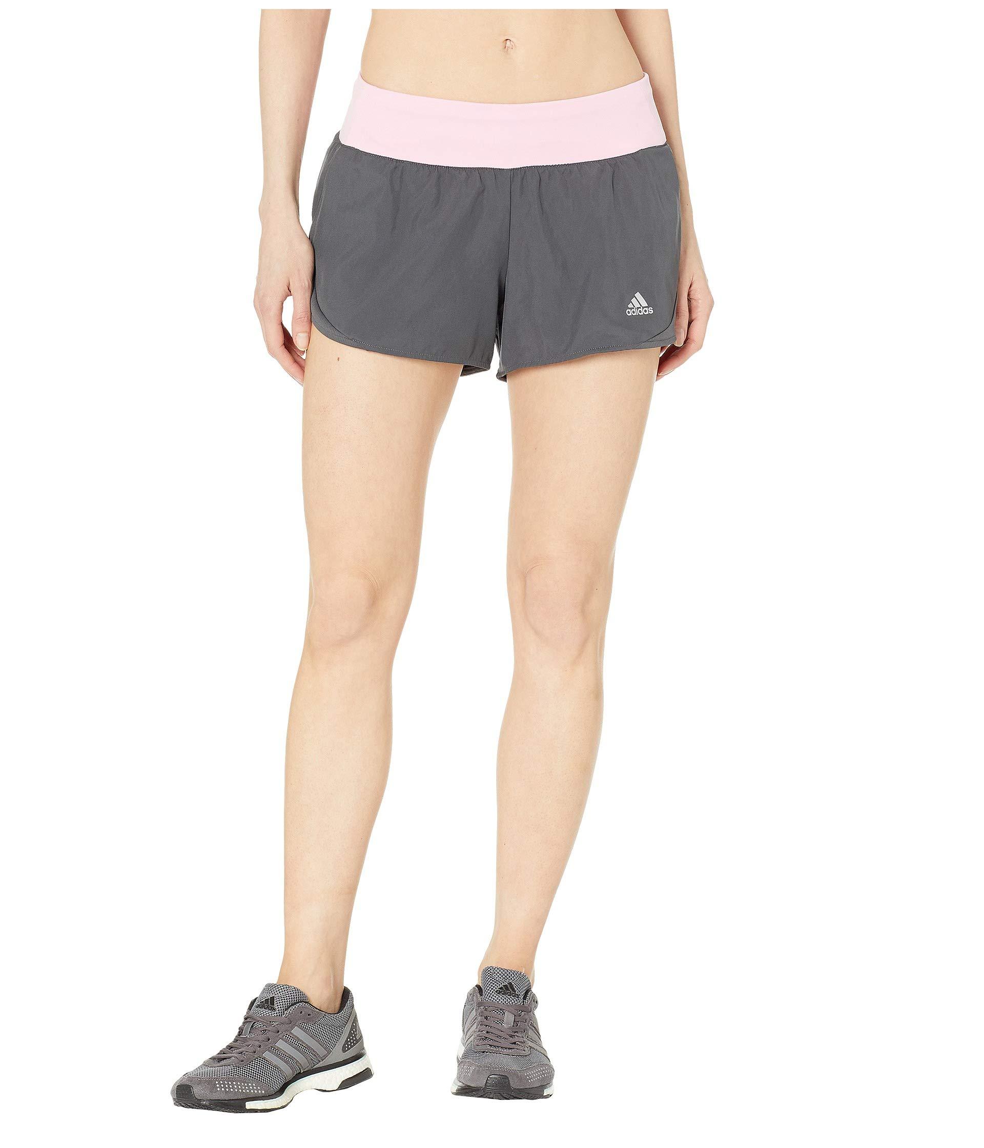 adidas Women's Run It Shorts, Grey/True Pink, X-Small 3''
