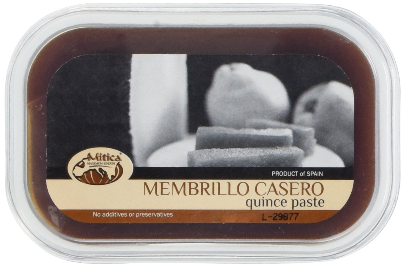 Membrillo - Quince Paste - 1 container, 10 oz 1 Product Size: 1 container - 10 oz From Spain, by Mitica Click the Gourmet Food World name above to see all of our products. We sell: