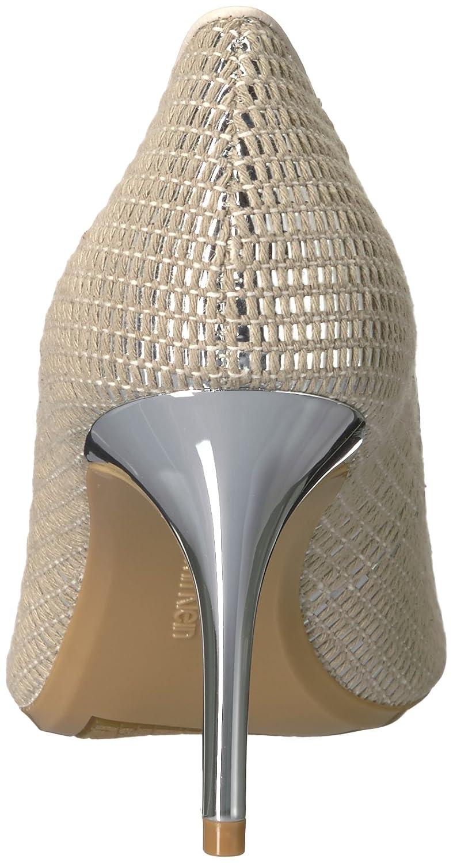 Calvin Klein Women's Gayle Pump B077J1CW6L 8 B(M) US|Natural/Silver/Soft White