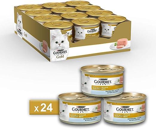 Purina Gourmet Gold Húmedo Gato Espuma, 24 latas de 85 g Cada una ...