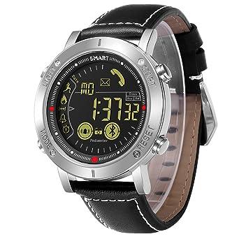 JEISO Reloj Inteligente Hombre Fitness Tracker Reloj Inteligente al Aire Libre con Podómetro de Calorías Cronómetro