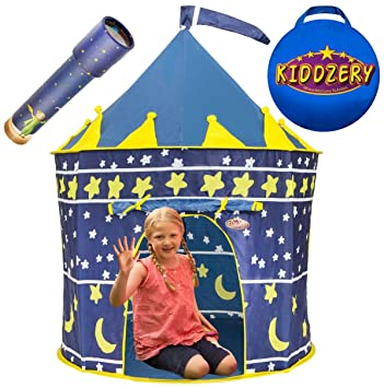 Kiddzery Castle Play Tent Includes Free Kaleidoscope Great Gift Idea for Boys u0026 Girls  sc 1 st  Amazon.com & Amazon.com: Kiddzery Castle Play Tent Includes Free Kaleidoscope ...