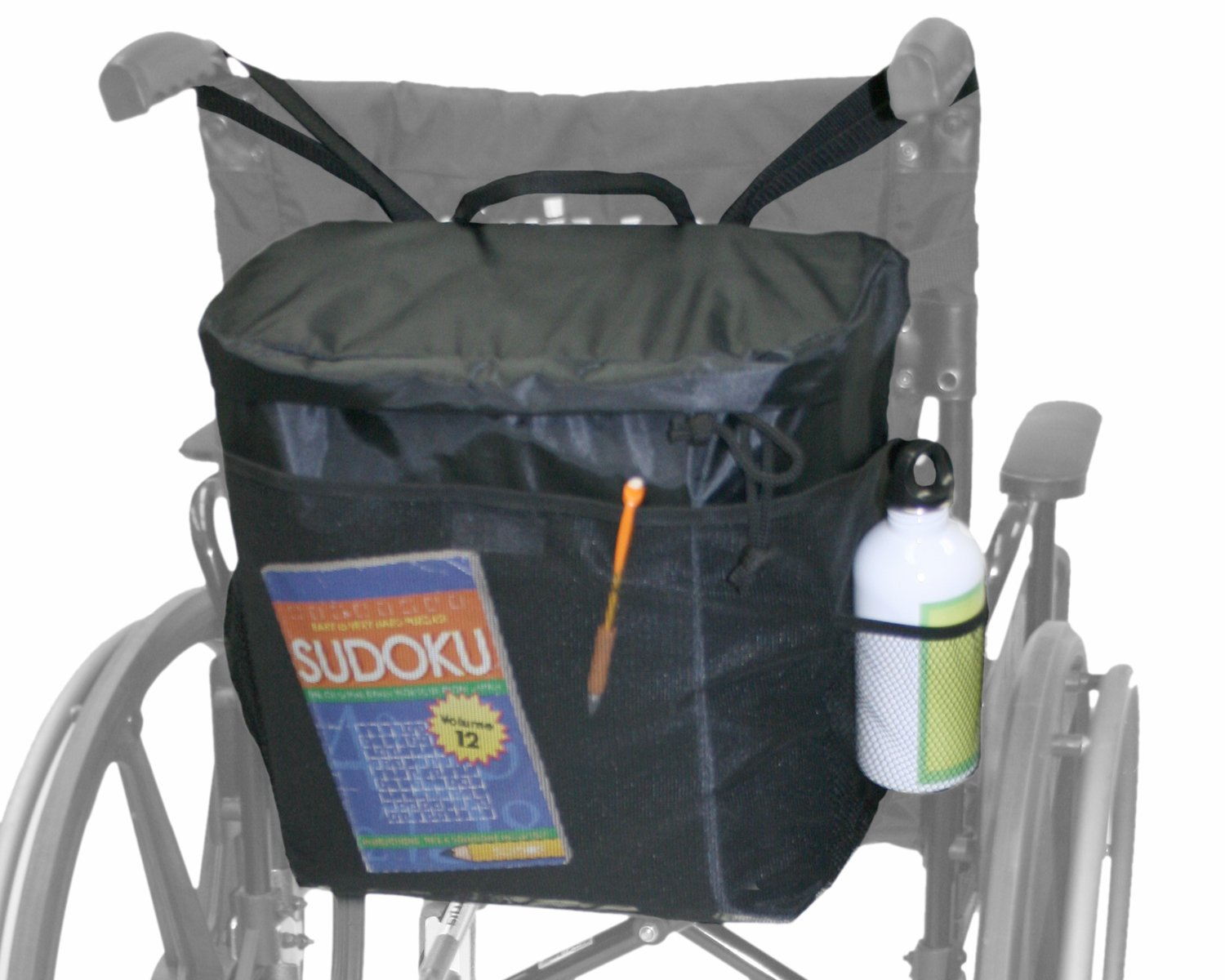 LAMINET - Mobility & Daily Living AIDS (Wheelchair Backpack, Black)