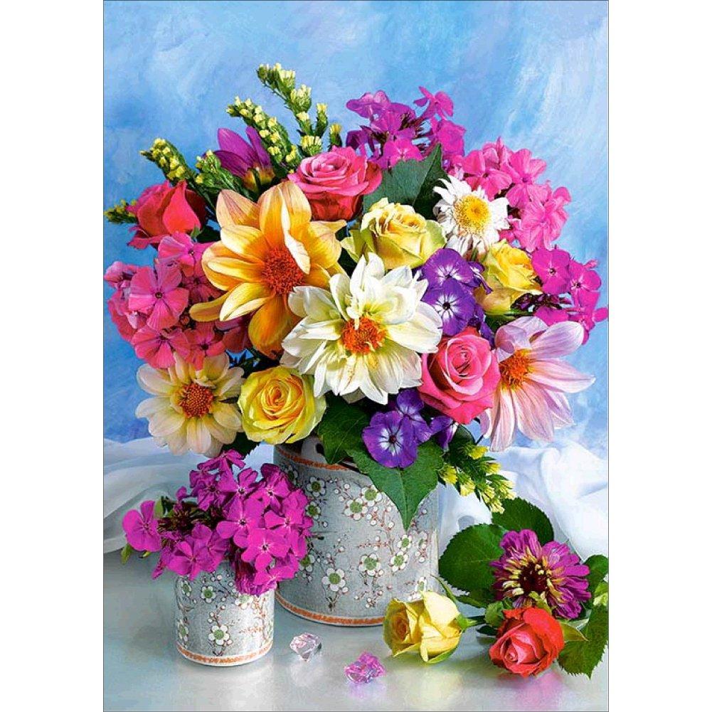 Fairylove 30×30 Diamond Painting Kits for Adults Diamond Dotz Craft Kit Rose Bead Painting Kit, Pink Rose
