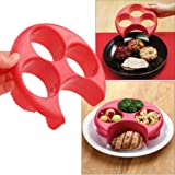 Meal Measure Portion Plate, Kemilove Manage Your Weight, Control Cooking Tools with Kitchen Food Plate (Red)