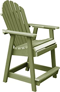 highwood AD-CHCA2-SGE Hamilton Counter Height Deck Chair, Dried Sage