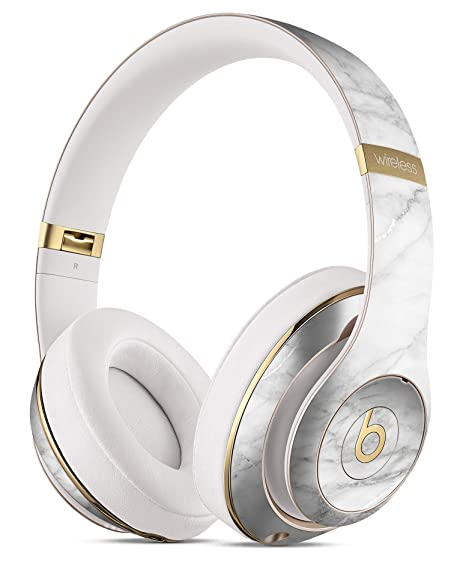 5a023542694 White Scratched Marble DesignSkinz Full-Body Skin Kit for the Beats by Dre  Studio Remastered