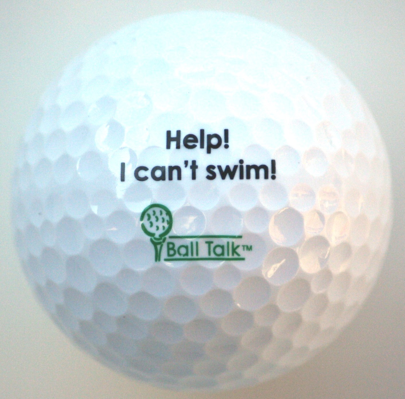 BallTalk Golf Balls - (''Help! I can't Swim!'' - 'Hazard' Series) 3-ball box