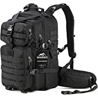 RUPUMPACK Military Tactical Backpack Hydration Backpack, Army MOLLE Bug Out Bag, Small 3-Day Rucksack Outdoor Hiking Camping Trekking Hunting School Daypack, 33L