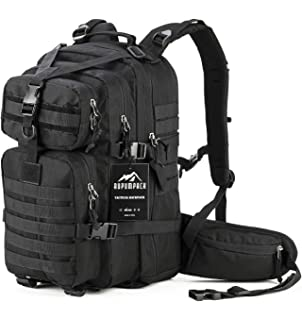 RUPUMPACK Military Tactical Backpack Hydration Backpack, Army MOLLE Bug Out Bag, Small 3-