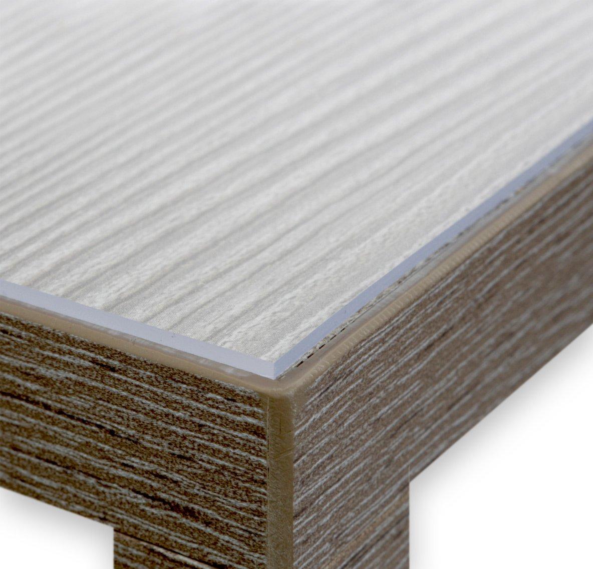 Glasklar Folie 2,0 mm transparente Tischdecke Tischschutz Lebensmittelgeeignet, Breite und Länge wählbar, 110x360 cm