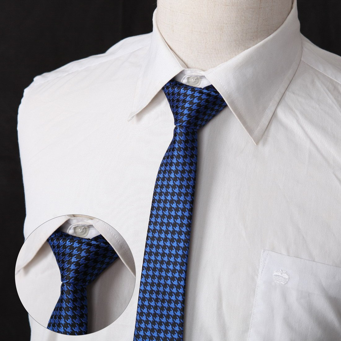 DANF0039 Series Colors 5cm-width Polyester Slim Ties Creative Fashion Skinny Ties - 5 Styles Available Inspire For Business By Dan Smith by Dan Smith (Image #4)