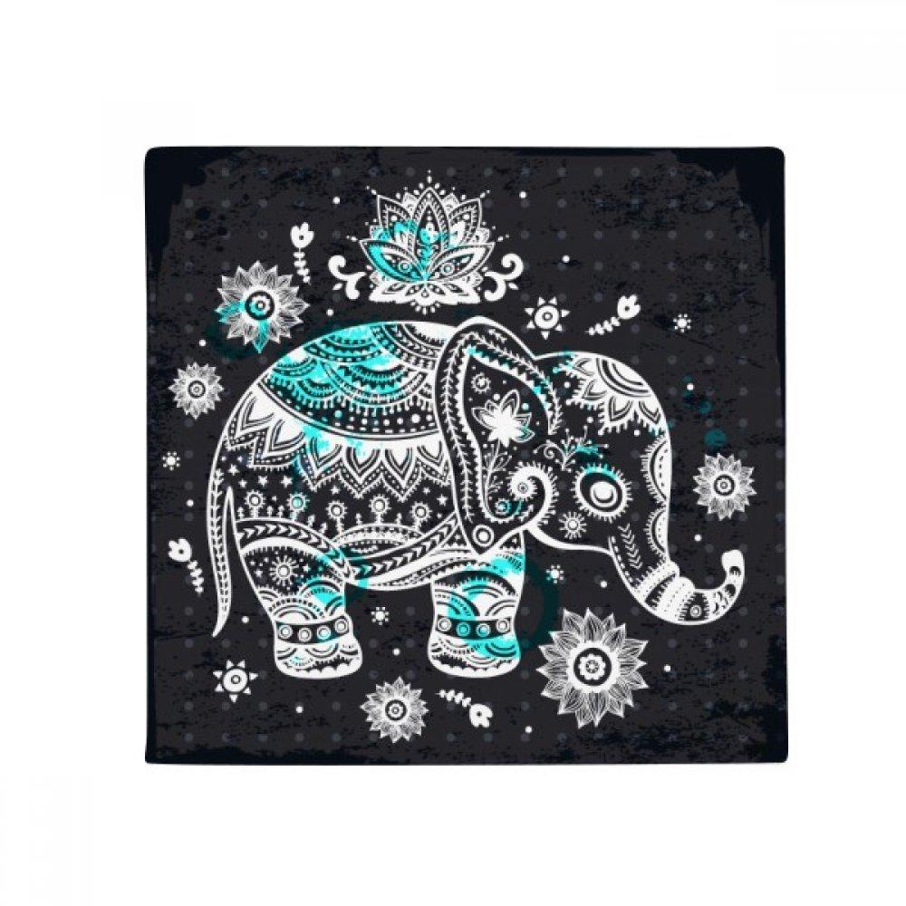DIYthinker Nation Elephant Flower Black bluee Animal Anti-Slip Floor Pet Mat Square Home Kitchen Door 80Cm Gift