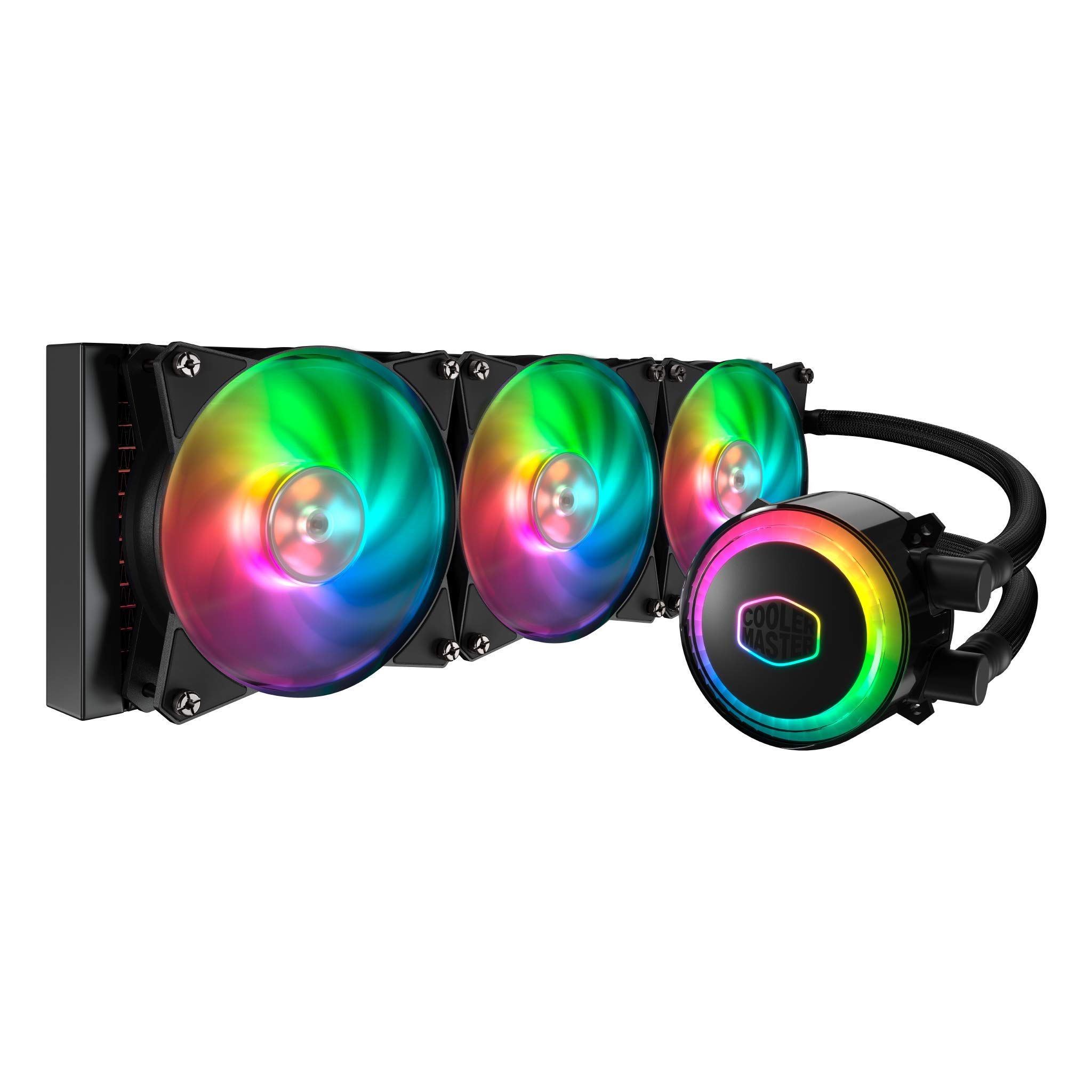 Cooler Master MLX-D36M-A20PC-R1 MasterLiquid ML360R Addressable RGB AIO CPU Liquid Cooler 28 Independently-Controlled LEDs Triple 120mm ARGB Air Balance MF by Cooler Master