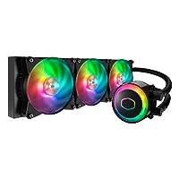 Cooler Master MLX-D36M-A20PC-R1 MasterLiquid ML360R Addressable RGB AIO CPU Liquid Cooler 28 Independently-Controlled LEDs Triple 120mm ARGB Air Balance MF