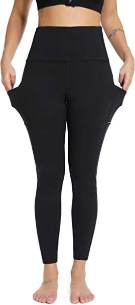 Olacia Leggings for Women with Pockets, High Waisted Yoga Pants Tummy Control Workout Leggings for Women