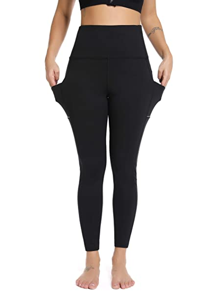 bdfb0cd901759a Olacia Yoga Pants Black Leggings With Pockets High Waisted Tummy Control workout  leggings Power Soft Lightweight